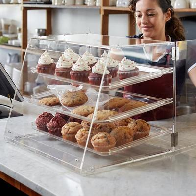 Premier Choice 3 Tray Bakery Display Case with Doors Length: 21 X Width: 17 3/4 Inchesx Height: 16 1/2 Inches by Premier Choice