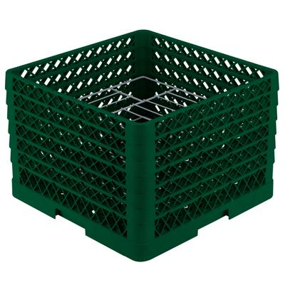 Vollrath PM1412-6 Traex Plate Crate Green 14 Compartment ...