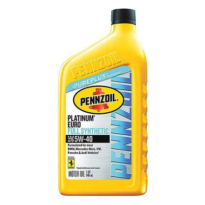 Engine Oil, 5W-40, Synthetic, Euro, 1 Qt. PENNZOIL 550040834