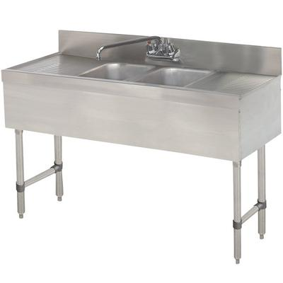 Advance Tabco SLB-42C Lite Two Compartment Stainless Stee...