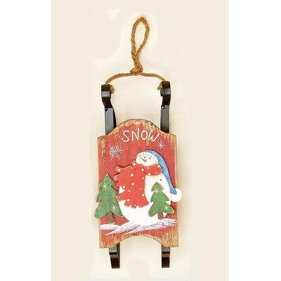 Worth Imports Sled with Runners Shaped Ornament 8525RD