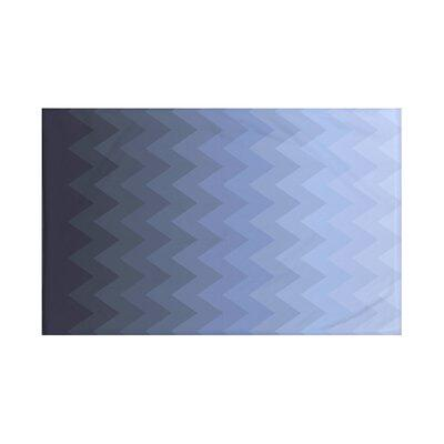 E By Design Depth Perception Chevron Print Throw Blanket ...