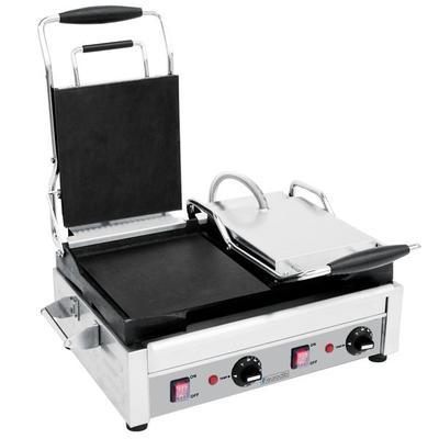 Eurodib SFE02360 Double Panini Grill with Smooth Plates -...