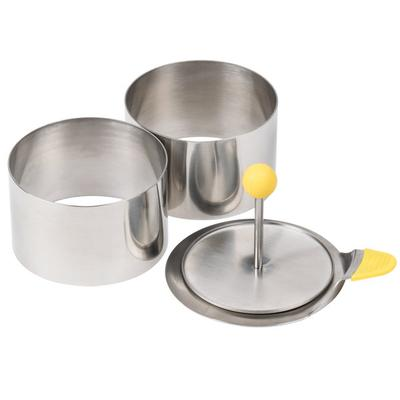 Ateco 4952 3 1/2'' Stainless Steel 4-Piece Round Food Mol...