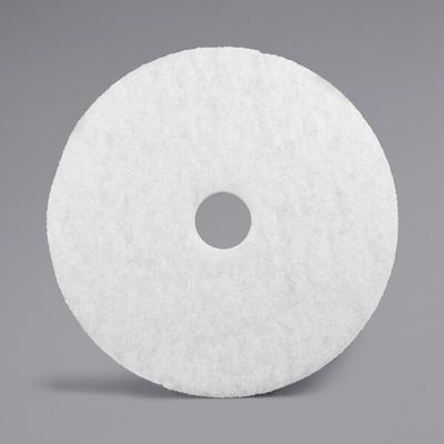 "3M 4100 12"" White Super Polishing Floor Pad - 5/Case"