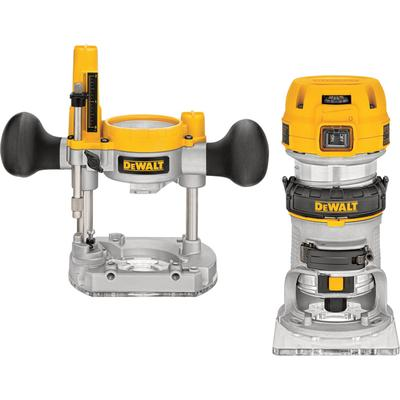 DeWALT Premium Compact Plunge Router Kit - 1 1/4 HP, 7 Am...