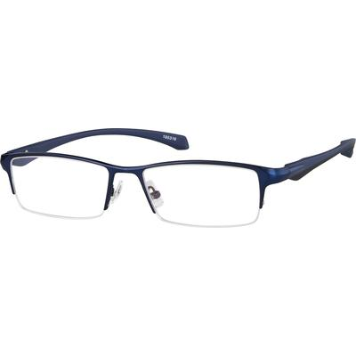 Zenni Contemporary Half-Rim Prescription Eyeglasses - 195316