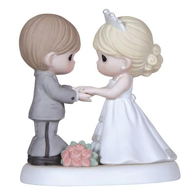 Precious Moments ''From This Day Forward'' Wedding Couple Holding Hands Figurine, Multicolor