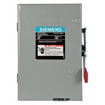 Siemens 30 Amp 120/240VAC Single Throw Safety Switch 1P, ...
