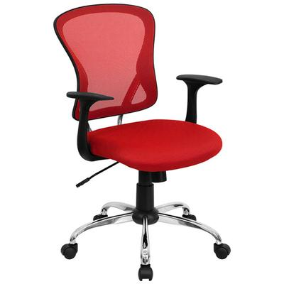 FLASH Furniture H-8369F-RED-GG Mid-Back Red Mesh Office C...