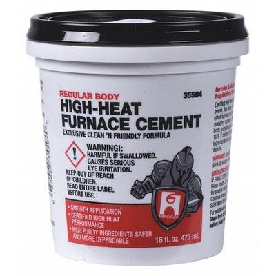 Hercules 35504 Furnace Cement,High Temperature,1 pt. G157...
