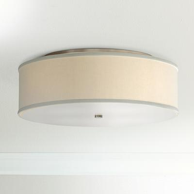 """Tech Lighting Mulberry 20"""" Wide White Drum Ceiling Light"""