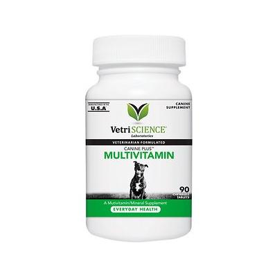 VetriScience Canine Plus Multivitamin Everyday Health Dog Tablets, 90 count