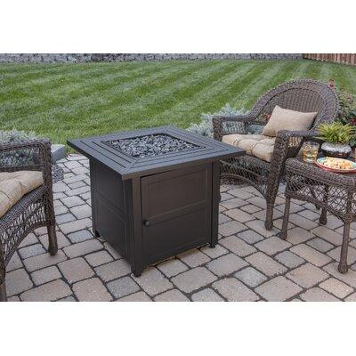 Endless Summer Stainless Steel Propane Fire Pit Table GAD...