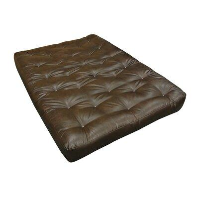 Gold Bond 707 8 in. All Cotton 39 x 80 in. Leather Futon Mattress, Twin Extra Large - Dark Brown