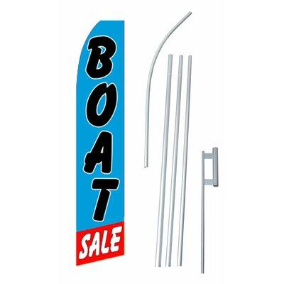 Neoplex Boat Sale Swooper Flag and Flagpole Set SWF-070_4...