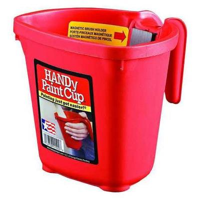 While you\'re shopping for paint trays and buckets, don\'t forget to stock up on paintbrushes and drop cloths, too. Take a look at the features for Handy Paint Products Paint Bucket. Length: 6\