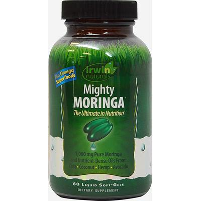 Irwin Naturals Mighty Moringa 1000 mg per serving with Bioperine-60 Softgels