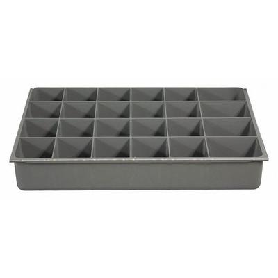 Durham 124-95-24-IND Compartment Box,24 Compartments,40 lb. G6211269, Gray