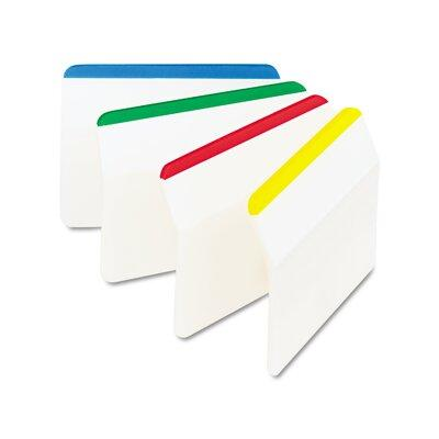 3M Hanging File Tabs, Blue/Green/Red/Yellow, 6 Flags/Colo...