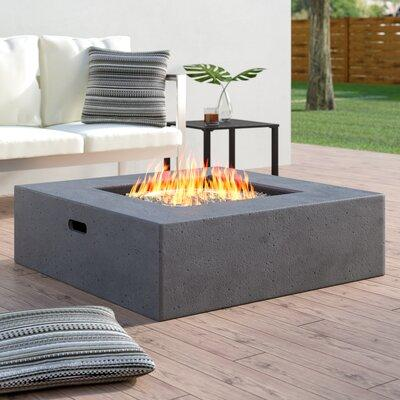 Wade Logan Olivet Propane Fire Pit Table WLGN4531 Finish:...