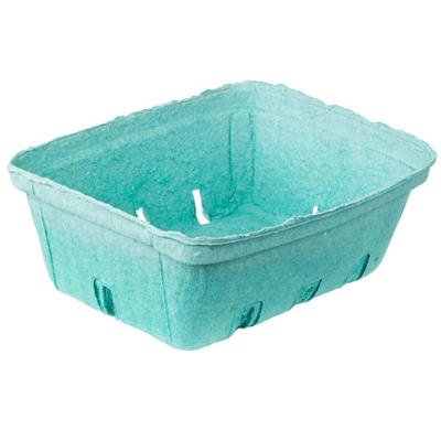 1.5 Qt. Green Molded Pulp Berry / Produce Basket - 200/Case