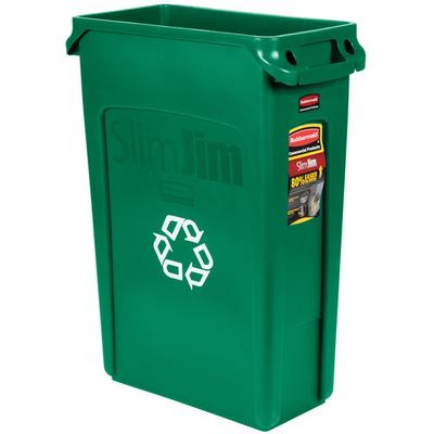 Rubbermaid FG354007GRN Slim Jim 23 Gallon Green Recycling...