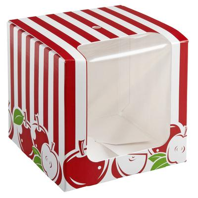 Baker's Mark Printed 1-Piece Candy Apple Box with Window ...