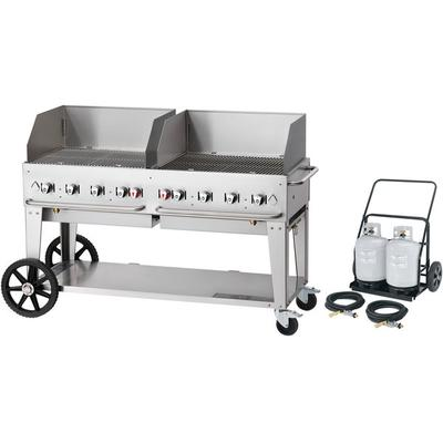 "Crown Verity MCC-60WGP 60"" Mobile Outdoor Cart Grill with..."