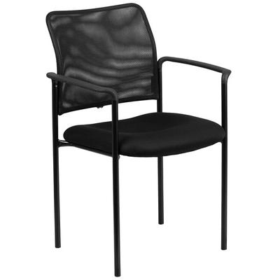 FLASH Furniture GO-516-2-GG Black Mesh Comfortable Stacka...