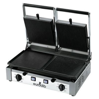 Eurodib PDM3000 Double Panini Grill with Grooved Top and ...