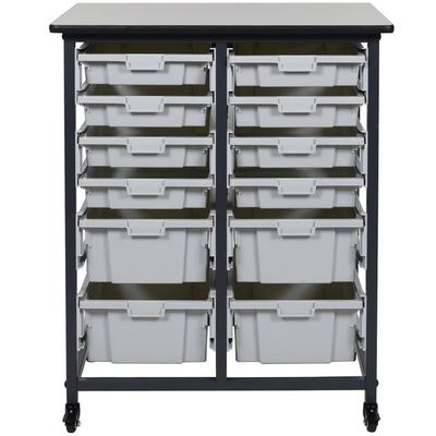 luxor MBS-DR-8S4L Mobile Bin Storage Unit - 8 Small and 4...