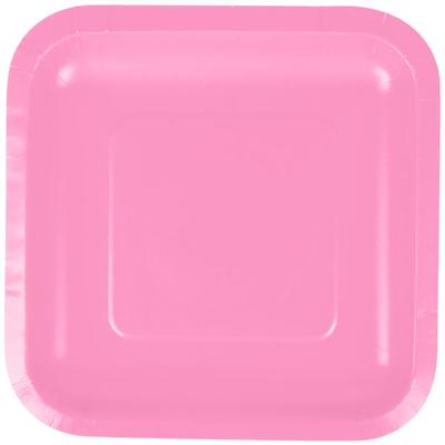 "Creative Converting 453042 7"" Candy Pink Square Paper Pla..."
