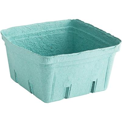 2.5 Qt. Green Molded Pulp Berry / Produce Basket - 200/Case