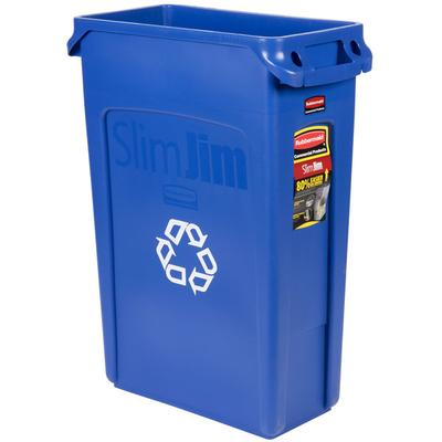 Rubbermaid FG354007BLUE Slim Jim 23 Gallon Blue Recycling...