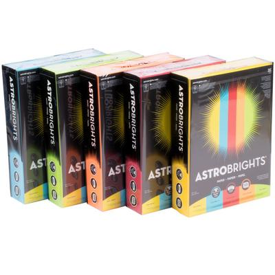 "Astrobrights 22999 8 1/2"" x 11"" Assorted Case of 24# Smoo..."