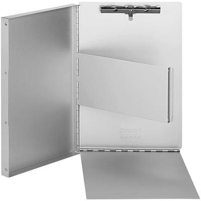 """Universal Office Products Universal UNV40300 Aluminum Clipboard Document Box, 1 Compartment, 2/5"""" Capacity, Letter Size, Silver"""