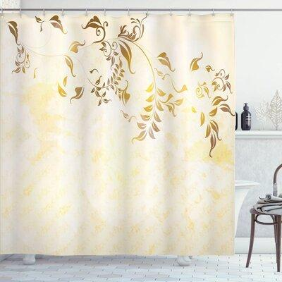 Ambesonne Elegant Vintage Ornament Shower Curtain Set sc_...