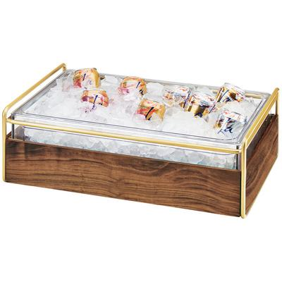 CAL-MIL 3702-12-46 Mid-Century Brass Metal and Wood Ice H...
