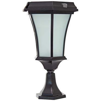 "Universal Lighting Black 15"" High Solar LED Outdoor Pier ..."