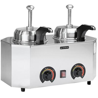 Paragon 2029C Pro-Deluxe Dual 3 Qt. Warmer with 2 Heated ...