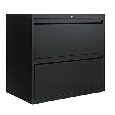 Alera ALELF3029BL Black Two-Drawer Metal Lateral File Cab...
