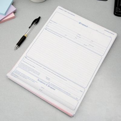 Adams NC3819 3-Part Carbonless Contractor Proposal Form -...