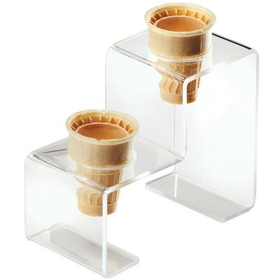 CAL-MIL 3601-2 Two Cone Acrylic Ice Cream Cone Holder - 7...