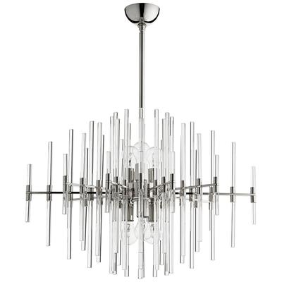 "Cyan Design Quebec 30 1/2""W Polished Nickel 6-Light Pendant"