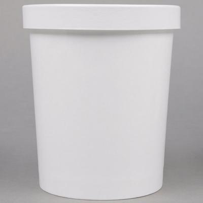Choice 1 Qt. White Paper Double-Wall Ice Cream Container ...