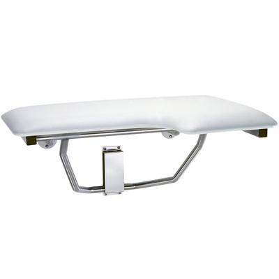 Bobrick B-518 White Left-Handed Folding Shower Seat with ...