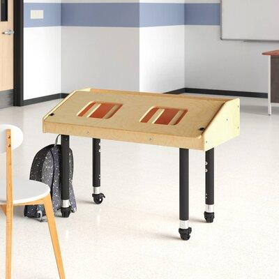 JonTi CrafT Adjustable Height Dual Tablet Ergonomic Wooden Table - 42''W x 21.5''D x 22''H - 31''H, 3396JCE