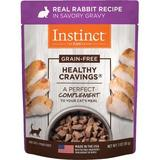 Instinct by Nature's Variety Healthy Cravings Grain-Free Real Rabbit Recipe Wet Cat Food Topper, 3-oz pouch, case of 24