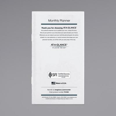 """At A Glance 7090610 3 1/2"""" x 6 1/8"""" Pocket Size Monthly 2..."""